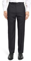 Santorelli Men's Flat Front Twill Wool Trousers