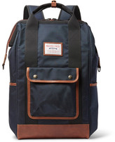 MASTERPIECE Gabatte Leather-trimmed Cordura Backpack