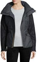 Sorel Joan of Arctic Wool and Leather Jacket, Charcoal/Heather Gray