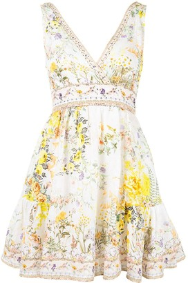 Camilla Panelled Floral Mini Dress