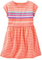 Osh Kosh Oshkosh Bgosh Girls 4-8 Drop-Shoulder Striped Dress