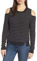 Lucky Brand Stripe Cold Shoulder Pullover
