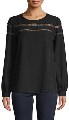 Calvin Klein Lace Long-Sleeve Top