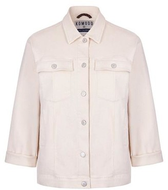 Komodo Organic Cotton Evel Jacket in Warm Sand Cream - 8