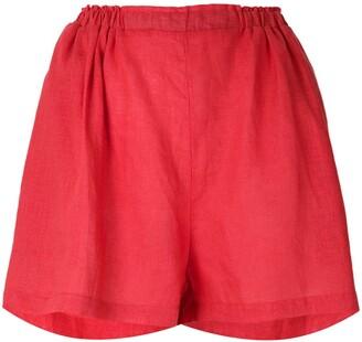 Clube Bossa Mandoline ruched waist shorts
