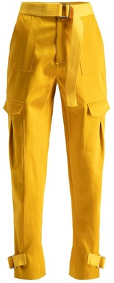 HOLZWEILER Yellow Polyester Trousers