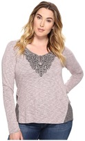 Roper Plus Size 0570 Heather Jersey Henley