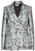 MSGM Women's Green Polyester Blazer.