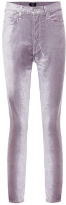 Citizens of Humanity Olivia high-rise velvet skinny pants