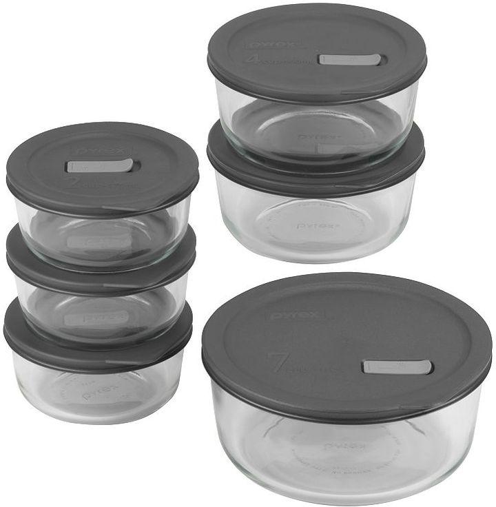 Pyrex no-leak lids™ 12-pc. storage container set