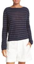 Vince Women's Stripe Lightweight Cashmere Sweater