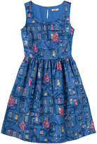 Cath Kidston Village Windows Bark Cloth Dress