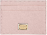 Dolce & Gabbana Pink Leather Card Holder