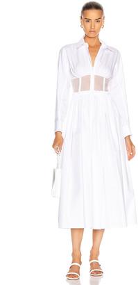 Rosie Assoulin Corset Shirt Dress in White | FWRD