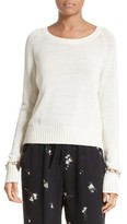 A.L.C. Women's Dree Embellished Cuff Cotton Sweater