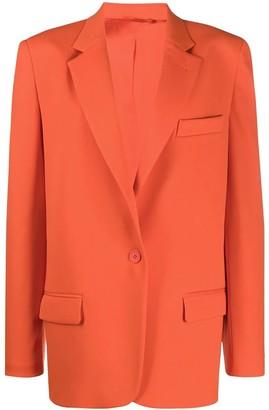 ATTICO Orange Single Button Blazer