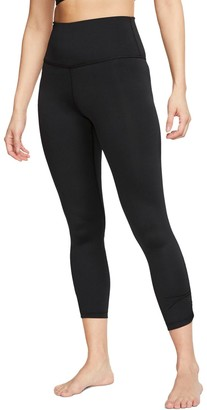 Nike Women's Yoga Ruched High-Waisted Ankle Leggings