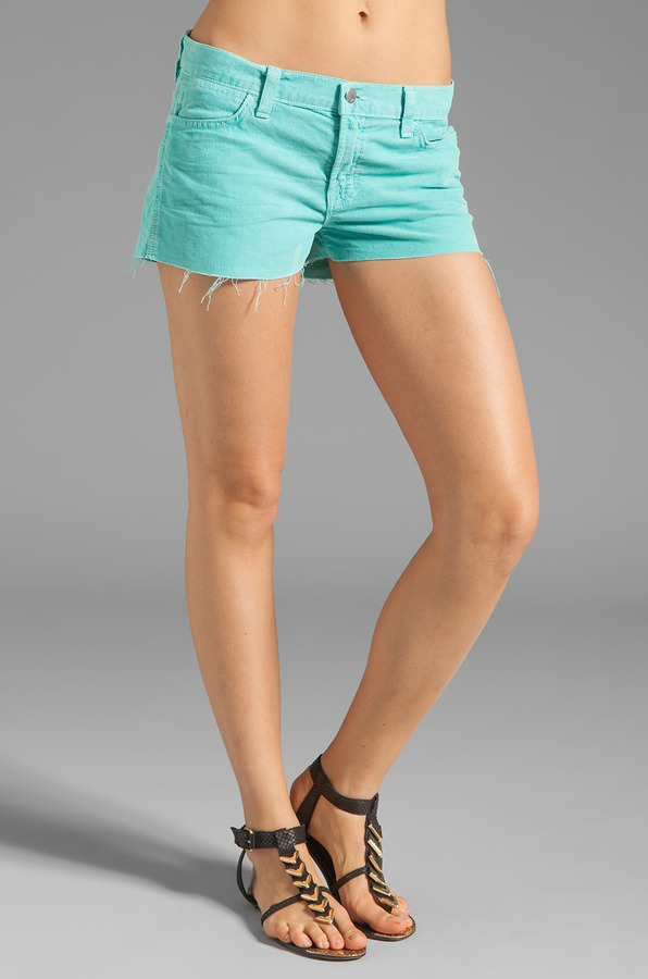 J Brand Cut Off Cord Shorts