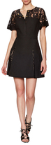 Thomas Wylde Cypress Cotton Lace Fit & Flare Dress