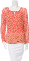 Tory Burch Printed Round Neck Blouse