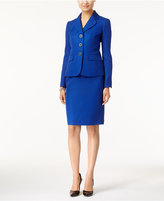 Le Suit Textured Tweed Skirt Suit