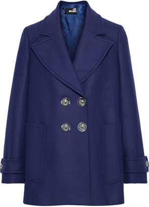Love Moschino Double-breasted Wool-blend Twill Coat