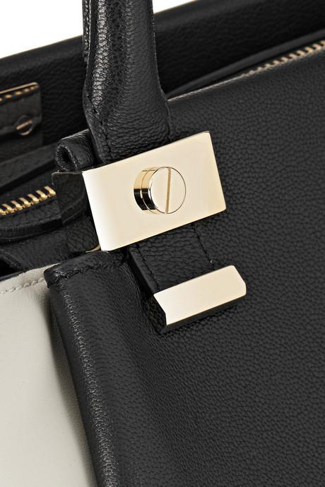 Lanvin Trilogy two-tone leather shopper