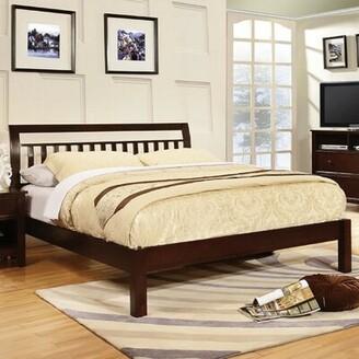 Ebern Designs Chaparosa Slatted Headboard Sleigh Platform Bed Ebern Designs Color: Brown, Size: Full/Double