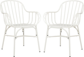 Safavieh Tucker Arm Chair/Stackable/Matte White