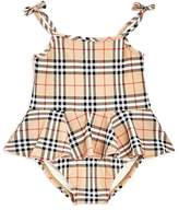 Burberry Girls' Luella Vintage Check Skirted Swimsuit - Baby