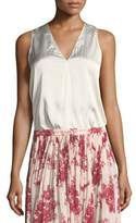 Giada Forte V-Neck Sleeveless Satin Top