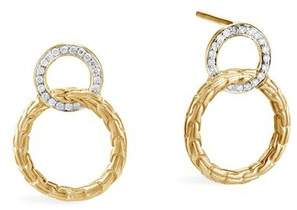 John Hardy Classic Chain Interlinking Stud Earring With Diamonds