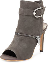 Dolce Vita Harum Suede Buckle Sandal, Medium Gray