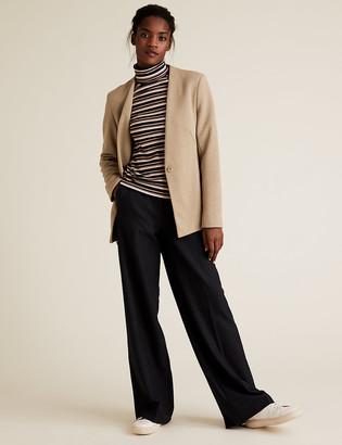 Marks and Spencer Jersey Slim Textured Belted Blazer