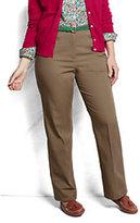 Classic Women's Plus Size Pre-hemmed Hidden Elastic Trouser Pants-True Navy