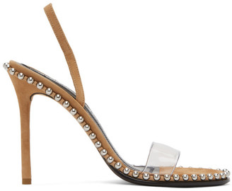 Alexander Wang Brown Suede Nova Heeled Sandals