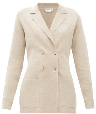Gabriela Hearst Kent Double-breasted Wool-blend Blazer - Beige