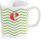 """The Cellar Chevron Initial Mug Collection """"E"""" Mug"""