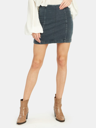 Free People Modern Femme Denim Skirt