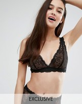 Monki Lace Triangle Bra