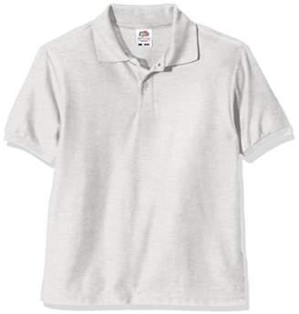 Fruit of the Loom Unisex Kids 65/35 Short Sleeve Polo Shirt,(Manufacturer Size:34)