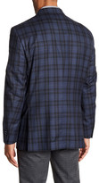 Peter Millar Blue Check Notch Collar Two Button Classic Fit Wool Sports Coat