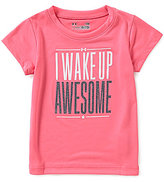 Under Armour Baby Girls 12-24 Months I Wake Up Awesome Short-Sleeve Tee