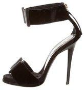 Roger Vivier Velvet Bow Sandals
