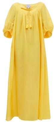 Thierry Colson Eva Metallic Cotton-blend Kaftan Dress - Yellow