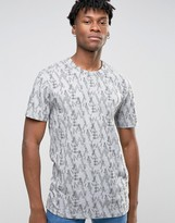 WÅVEN All Over Camo Print T-Shirt