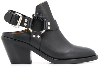 See by Chloe Buckle Strap Mule Boots