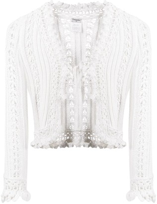 Chanel Pre Owned Tied Crochet Cardigan