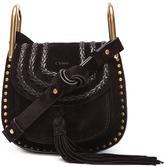 Chloé Mini Studded Suede Hudson Bag