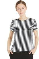 LILYSILK 22MM Minimalist Zebra Striped Silk T-Shirt for women this summer Set-S